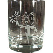 Vintage Power Company Advertising Glass - Old Reddy Kilowatt Highball Glass