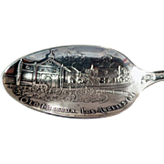 Vintage Sterling Silver Souvenir Spoon -  Los Angeles Mission, Seal of California and Much More