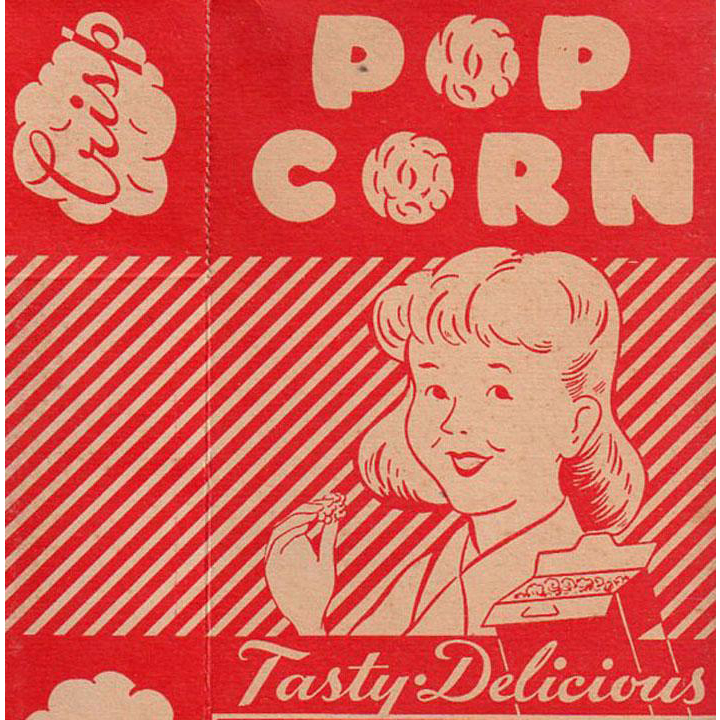 Vintage Popcorn Box - Old Empire State Nut Company - Boy and Girl Graphics