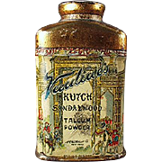 Vintage Talc Tin - Old Sample Vantine's Kutch Sandalwood Talcum Miniature Tin