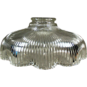 Vintage Light Fixture Shade - Shallow Old Shadewith Scalloped Edge