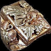 Man's Vintage Black Hills Gold Ring - 10k- 12k Classic Black Hills Gold Large Size Ring