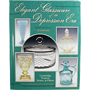 Old Reference Book - 6th Edition Elegant Glassware of the Depression Era by Gene Florence - Hardbound