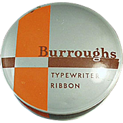 Vintage Typewriter Ribbon Tin - Old Burroughs Adding Machine Co. Tin