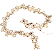"""Vintage Tatted Edging - 16"""" Length of Old Tatting - Ecru Thread Tatted Lace"""