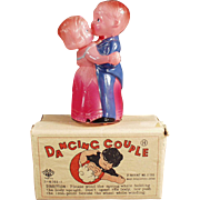 Vintage Celluloid Wind Up Toy - O. J. Celluloid Dancing Couple with Original Box