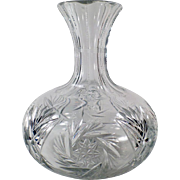 Vintage Glass Decanter - Wine or Water Server with Bulbous Form and Attractive Design