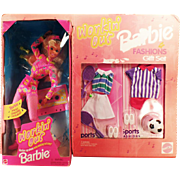 Vintage Barbie Doll - Old Workin' Out Barbie Doll and Fashions Gift Set – Tennis and Soccer Clothes