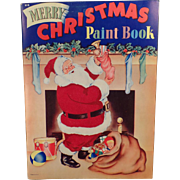 Vintage Paint and Coloring Book –  Santa Claus and Other Christmas Images