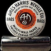 Vintage Celluloid Advertising Paper/Bill Clip - Ames Harris Neville