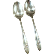 Vintage Oneida Silver Plate - 2 Queen Bess Teaspoons