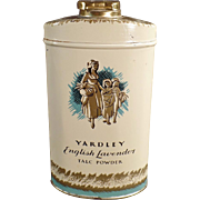 Vintage Talc Tin - English Lavender by Yardley of London - 1960's