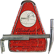 Vintage 1920's Esterbrook Drafting Compass with Original Graphic Tin