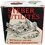 Vintage Steber Utilite Indoor/Outdoor Light Fixture with Original Box