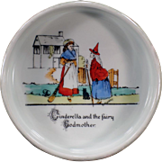 Vintage Baby Plate Feeding Dish - Cinderella - Made in Czechoslovakia