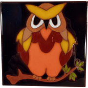 Vintage Art Tile - Colorful Owl Design - Edilgres - Made in Italy