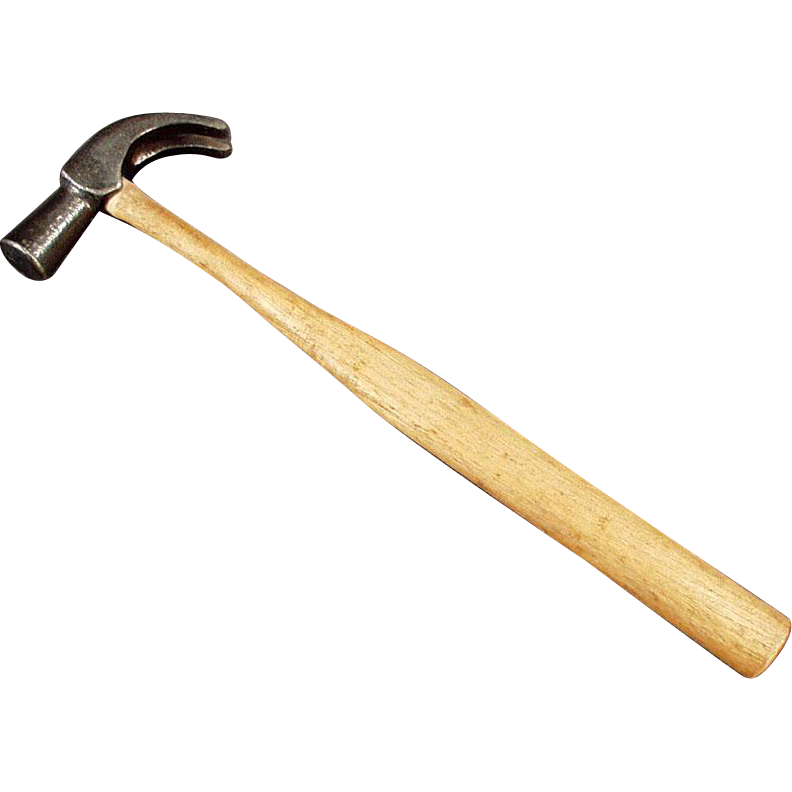 Small Vintage Tool -Old Flat Nosed Claw Hammer