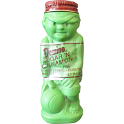 Vintage Domino Sugar 'N Cinnamon Shaker – Green Plastic Basketball Player