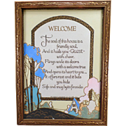 Vintage Motto Poem Print – A Welcome to a Home's Guests