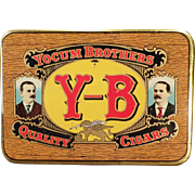 Vintage Tobacco Tin – Yocum Brothers Y-B Quality Cigars - Very Nice Condition