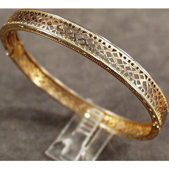 Child's Vintage Filigree Bracelet - Small, Gold Filled Child or Doll Size