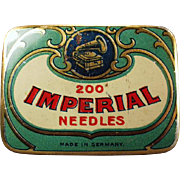 Vintage Phonograph Needle Tin - Imperial - German - Colorful Graphics
