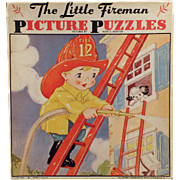 Vintage Picture Puzzles by Ruth E. Newton - Little Fireman Set  with Original Box