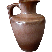 Vintage Frankoma Pottery – 10oz. Honey Jug Pitcher – Brown Glaze