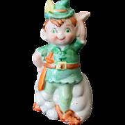 Vintage Porcelain Bell – Robin Hood or Leprechaun – J.S.N.Y Ceramics