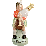 Vintage S & V Figural Flask - Scottish Bagpipe Player with Original Stopper - Schafer & Vater
