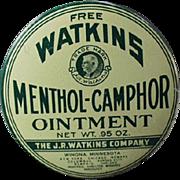 Vintage Sample Medicine Tin - Old Watkins Menthol-Camphor Ointment