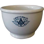 Vintage Restaurant China – Masonic Liberty Lodge 171 – 1923 - Sugar Bowl