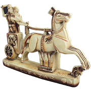 Vintage Schafer and Vater - Beautiful Belsazar Figurine with Horse Drawn Chariot