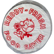 Vintage Reddy Kilowatt Advertising - Old Plastic Food Saver