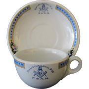 Vintage Restaurant China – Damascus #10 Masonic Lodge Cup & Saucer