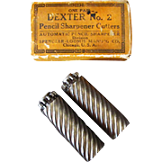 Vintage Dexter No.2 Replacement Pencil Sharpener Cutters