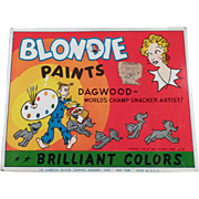 Vintage Water Color Paint Set Tin - Blondie & Dagwood Comic Character