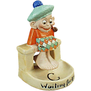 Vintage Schafer & Vater Porcelain - Waiting for the Tide Scotsman Swinger Whimsy