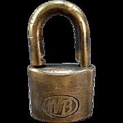 Vintage Padlock - Wilson Bohannan Brass Shackle Lock – WB #622