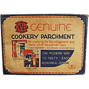 Vintage Kitchen Decorating Item - Cookery Parchment Paper ca. 1930's