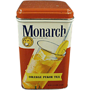 Vintage Tea Tin - Reid Murdoch Monarch Tin with Colorful Graphics