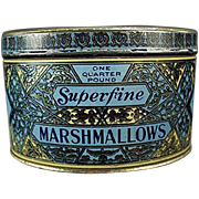 Vintage Marshmallow Tin - Woolworth's Woolco Brand Marshmallows