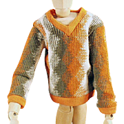 Vintage Mattel's Ken Doll Clothes - Knit V-Neck Sweater