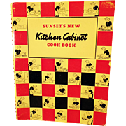 Vintage 1940's Sunset's New Kitchen Cabinet Cook Book – Spiral Bound Edition