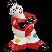Vintage Alma of California Pottery Clown - Bright Colors