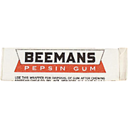 Stick of Vintage Chewing Gum - Unopened Beemans Pepsin