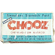 Vintage Medicine Box - Chooz Antacid Gum Box - Medical Sample