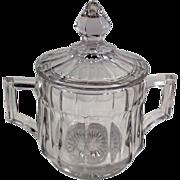 Vintage Heisey Glassware - Covered Sugar Bowl  #393 Pattern
