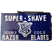 Vintage Razor Blades - Super-Shave Blade Box with Derby Blue Steel Blades