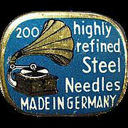 Vintage Needle Tin - Highly Refined Steel Phonograph Needles Tin